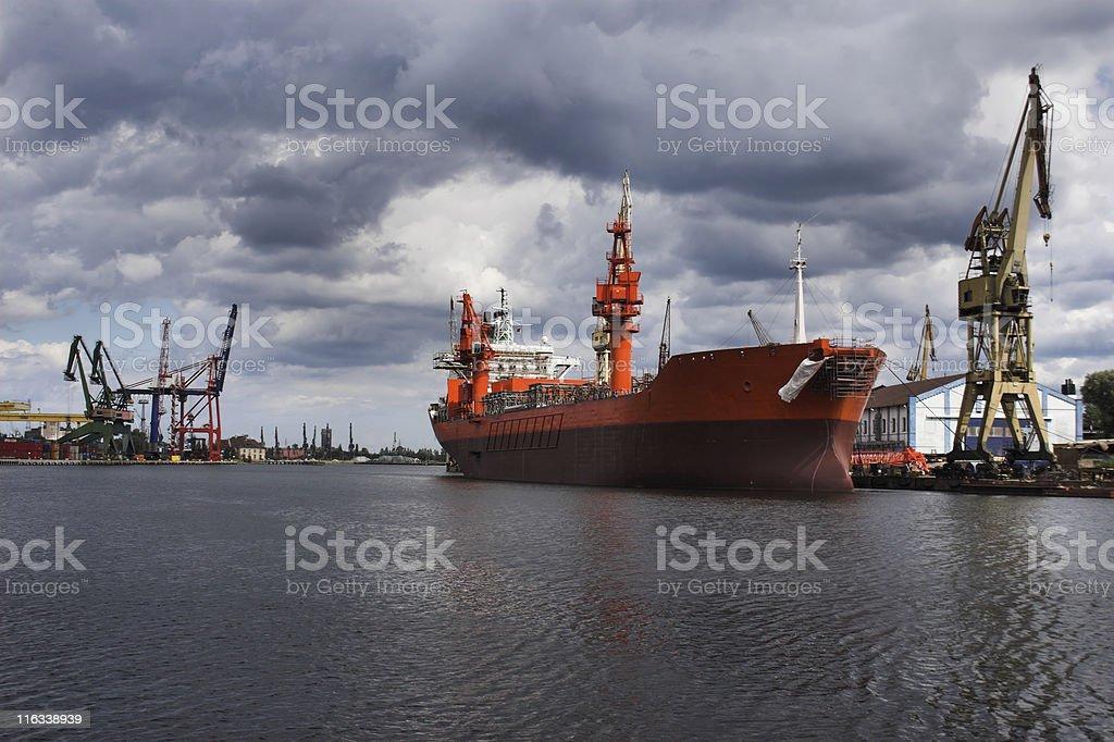 Ship in Yard royalty-free stock photo