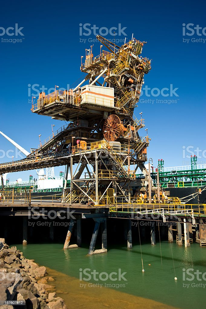 Ship Loading Facility in Port Hedland harbour stock photo