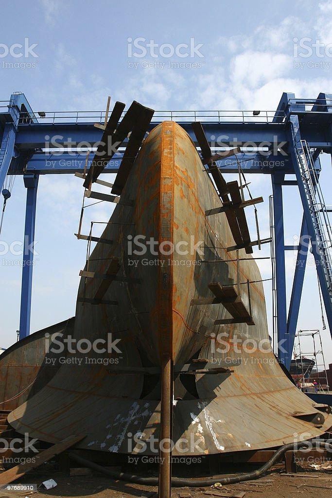ship maintenance royalty-free stock photo