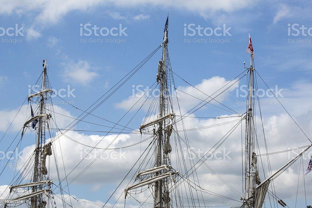 ship mast stock photo