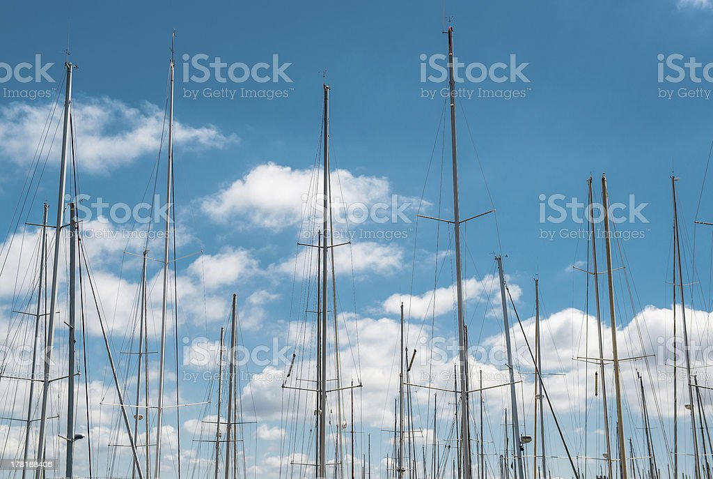 Ship masts royalty-free stock photo