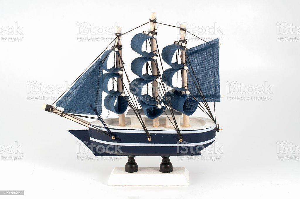 Ship model isolated royalty-free stock photo