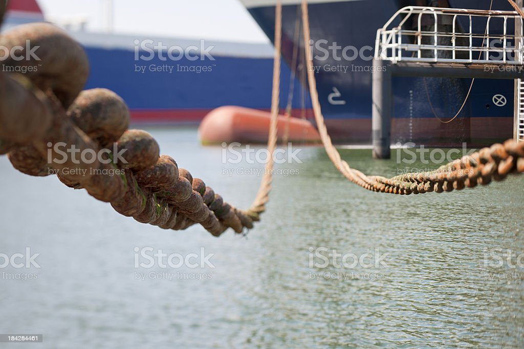 ship moored in harbor royalty-free stock photo