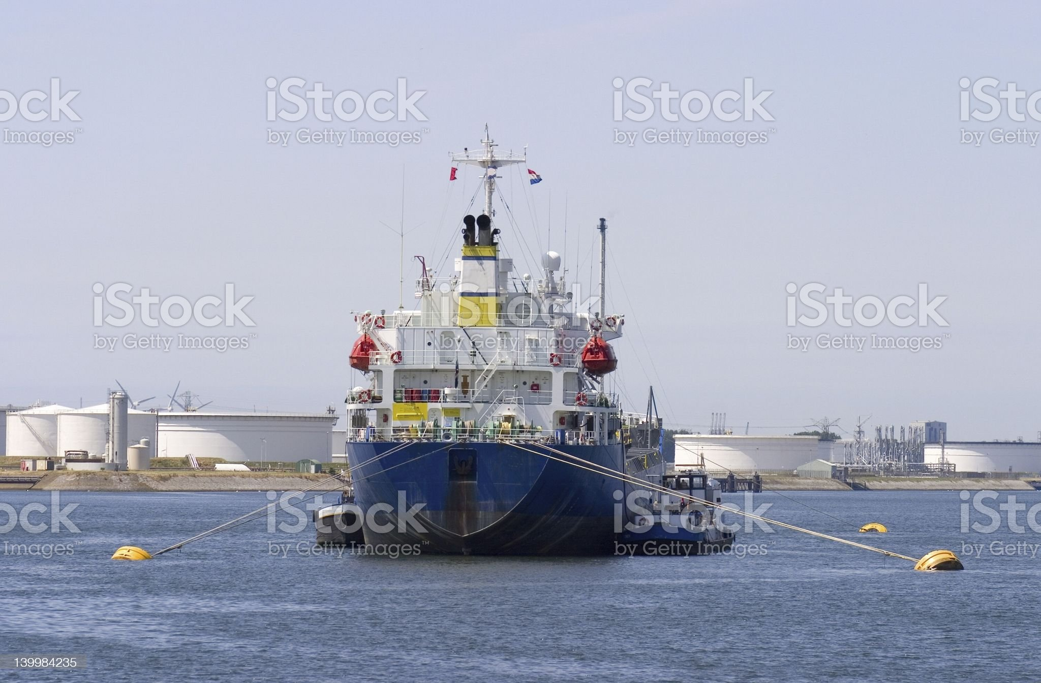 ship moored in port royalty-free stock photo