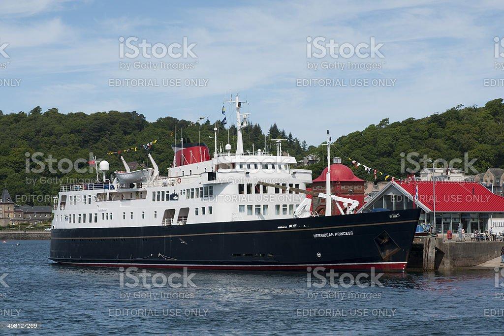 'Ship, Motor Vessel, MV Hebridean Ptincess, Docked, Oban, North P' stock photo