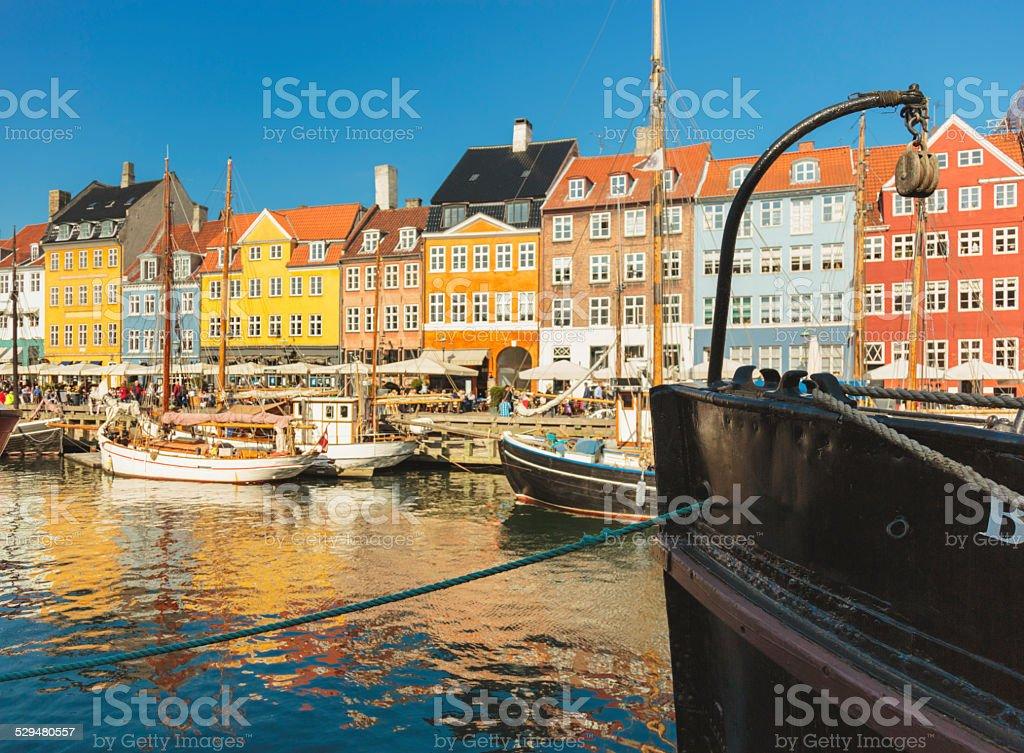 Ship museum in Nyhavn in Copenhagen. stock photo
