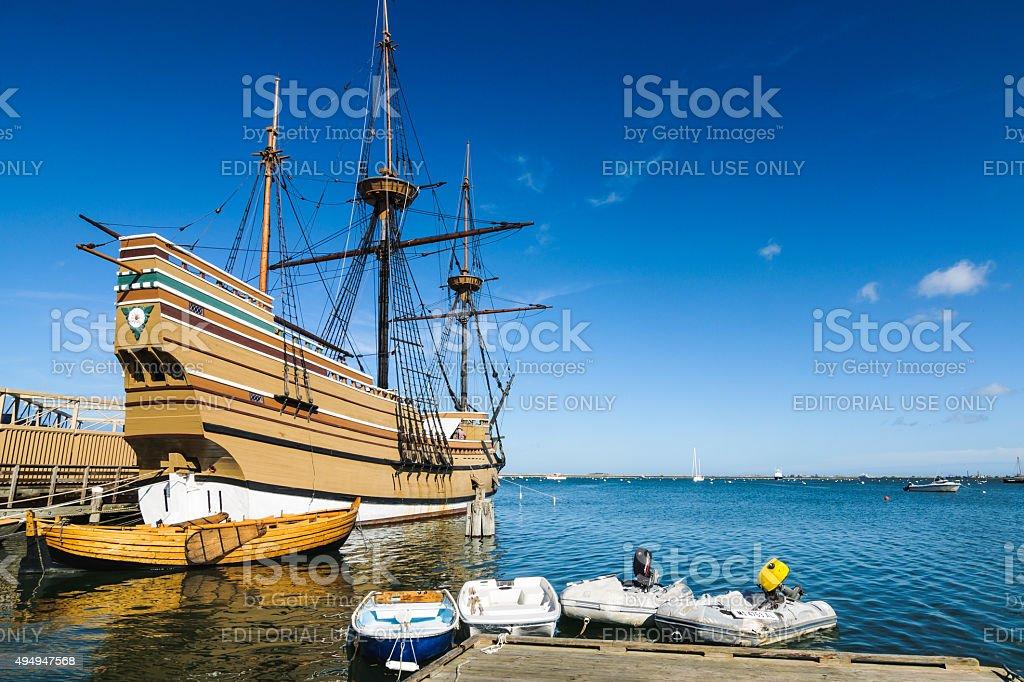 Ship of the Pilgrims stock photo