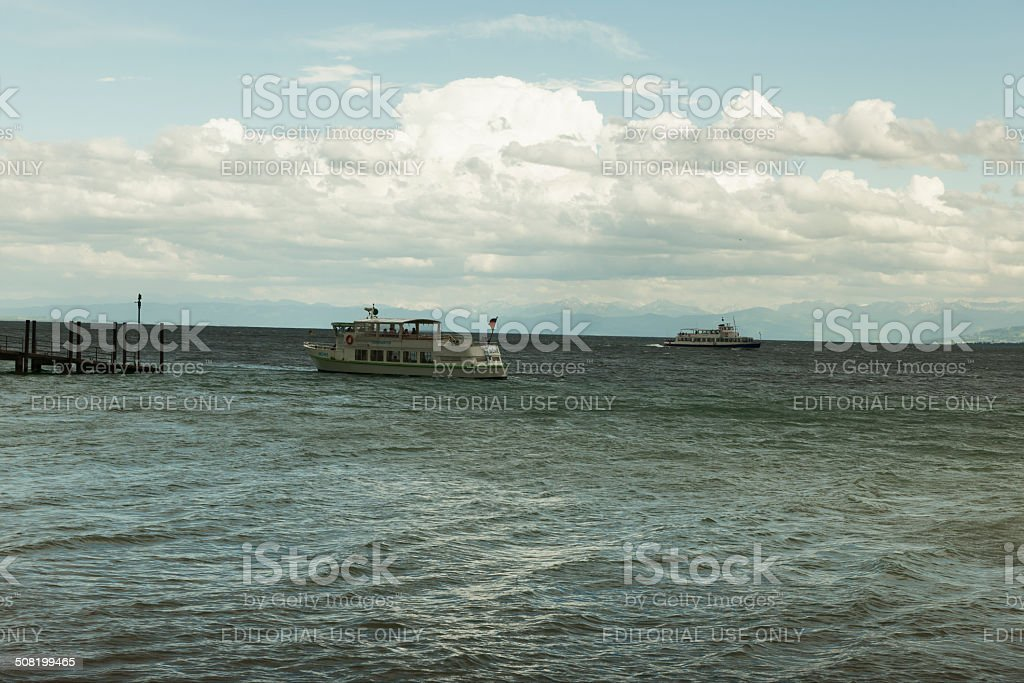 Ship on lake Constance royalty-free stock photo