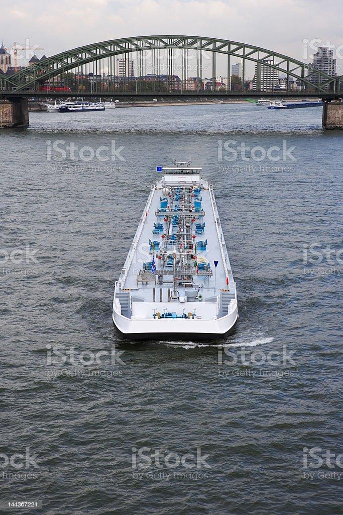 ship on river Rhine royalty-free stock photo