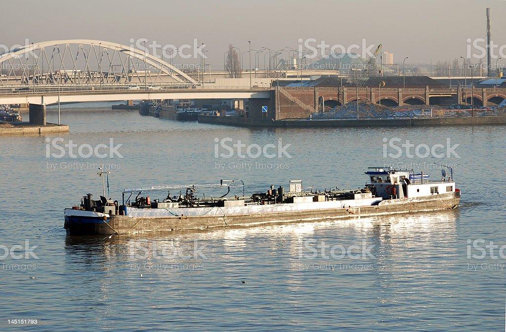 Ship on the Albertcanal (Antwerp) royalty-free stock photo