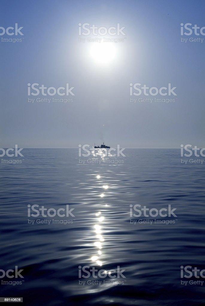 ship on the sea royalty-free stock photo