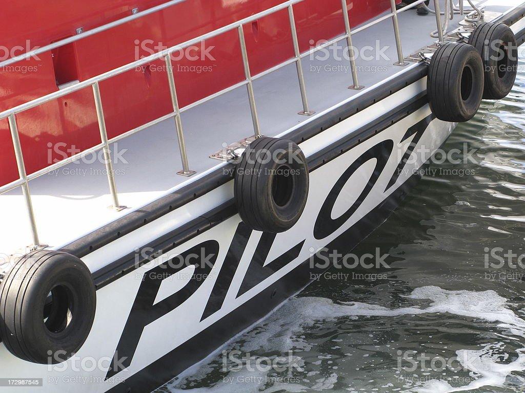 Ship Pilot Boat Close Up stock photo