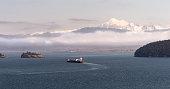 Ship Puget Sound Pacific Ocean Mt Baker Oil Tanker