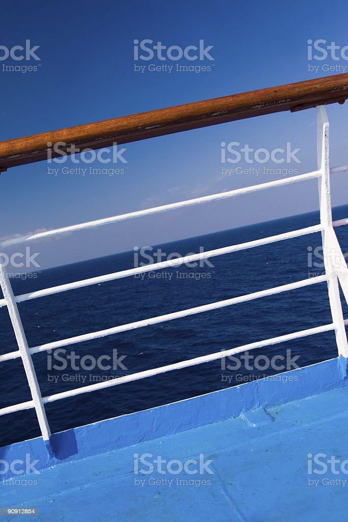 Ship Railing royalty-free stock photo