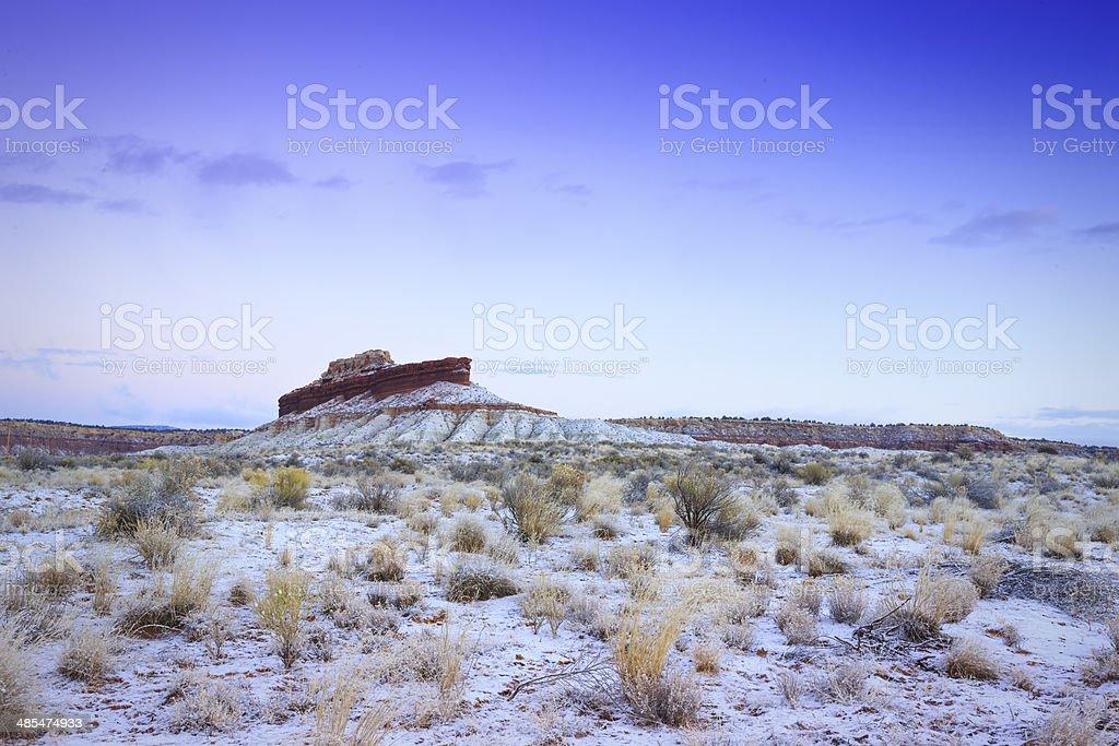 Ship Rock Arizona stock photo