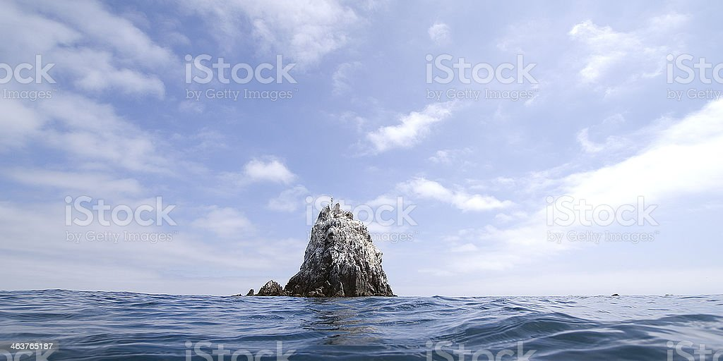 Ship Rock, Catalina Island stock photo
