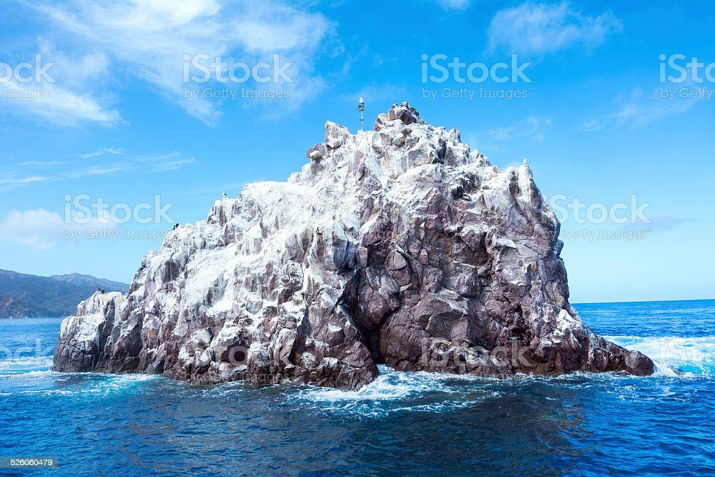 Ship Rock Catalina Island stock photo