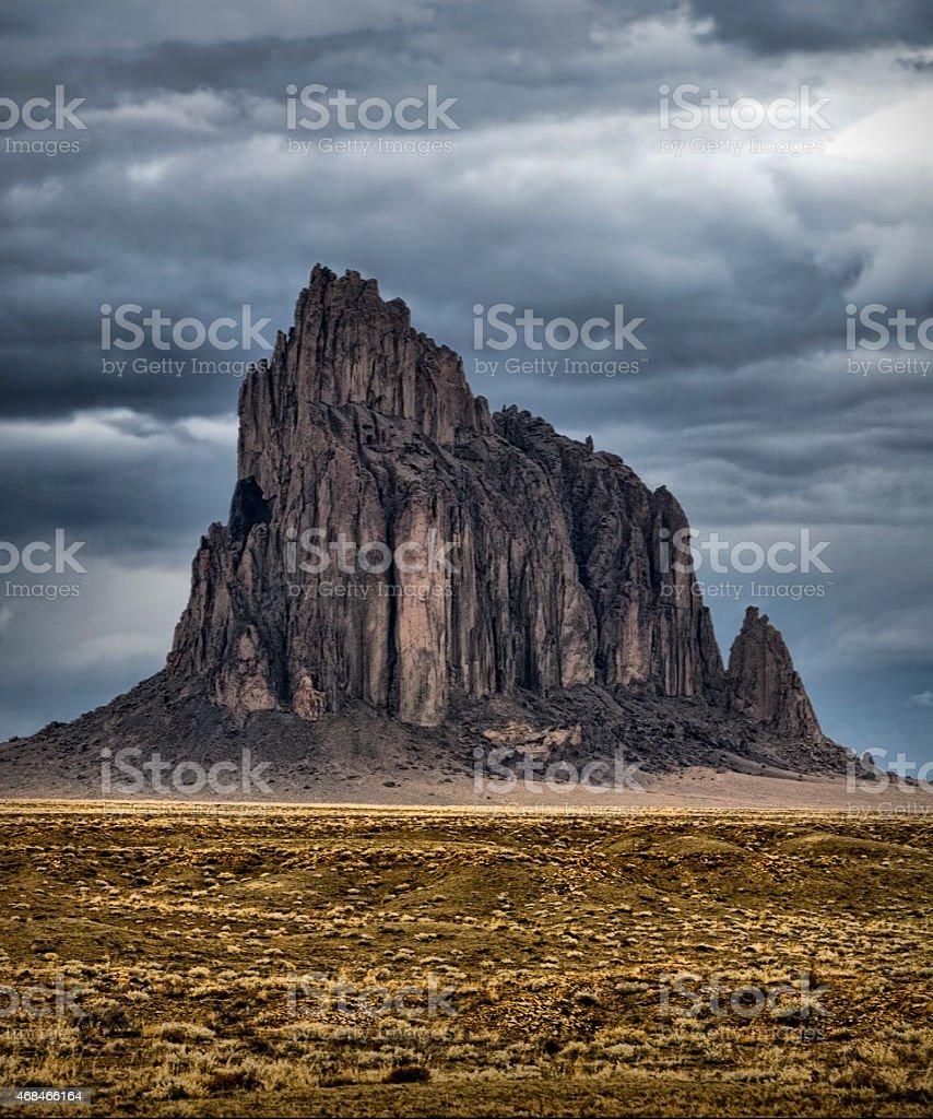 Ship Rock - New Mexico stock photo