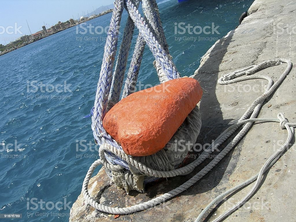 Ship Rope royalty-free stock photo