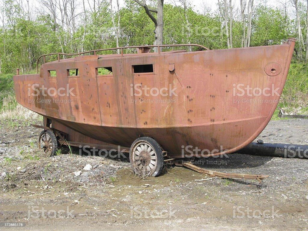 Ship Rusty Steel Hull royalty-free stock photo