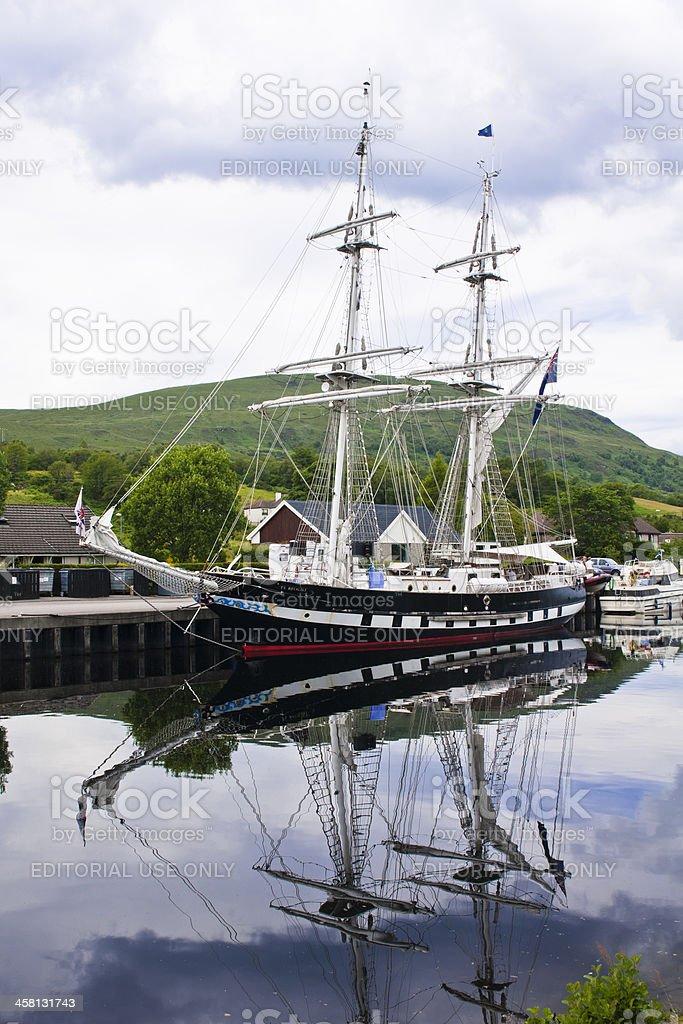 'Ship, Sail training vessel, TS Royalist, Docked, Neptunes Stairc' stock photo