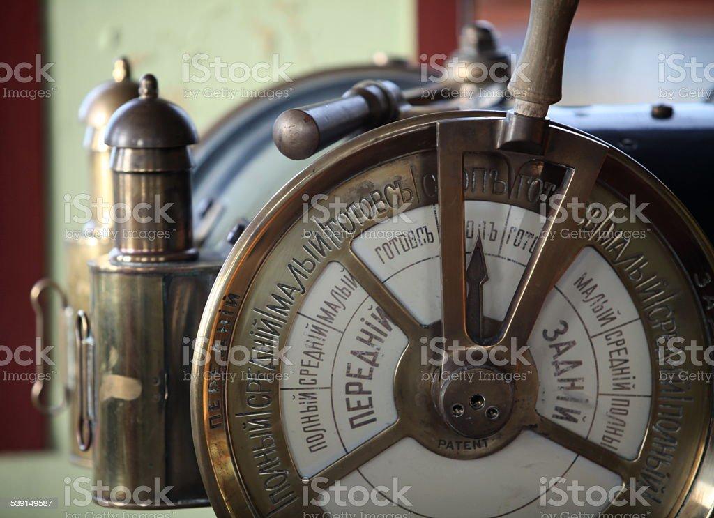 Ship telegraph stock photo