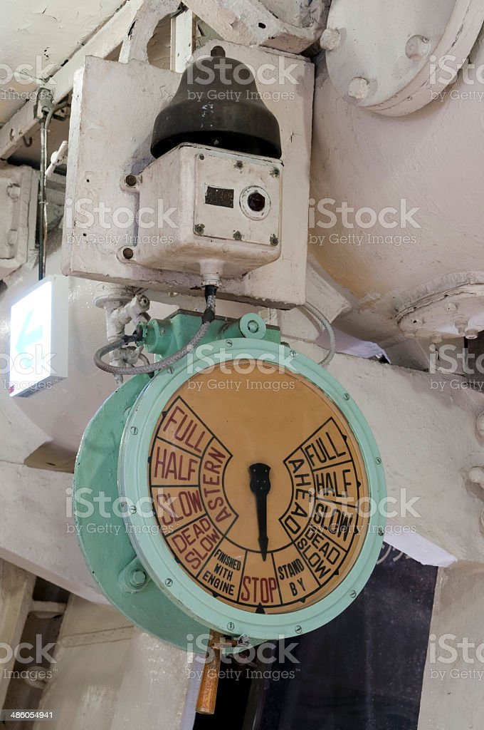 Ship telegraph - signalization of captain's orders stock photo