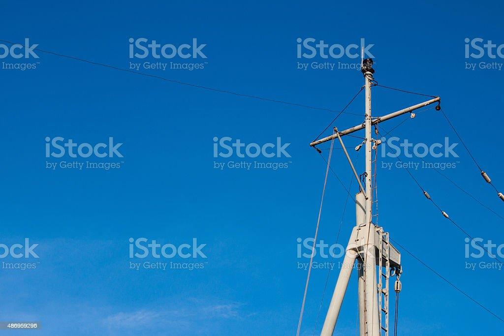 Ship Topmast stock photo