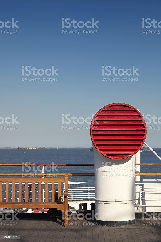 Ship ventilation stock photo