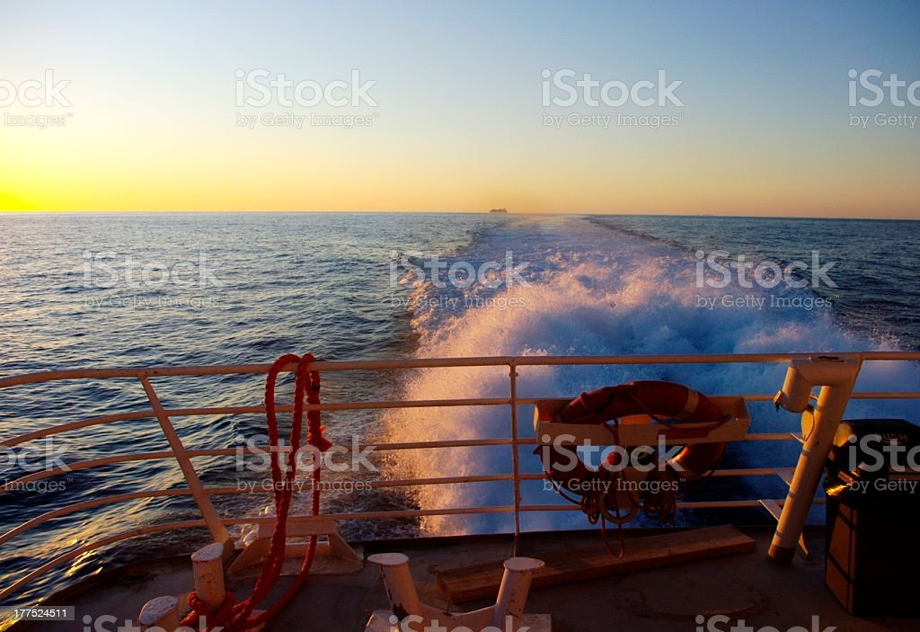 Ship wake royalty-free stock photo
