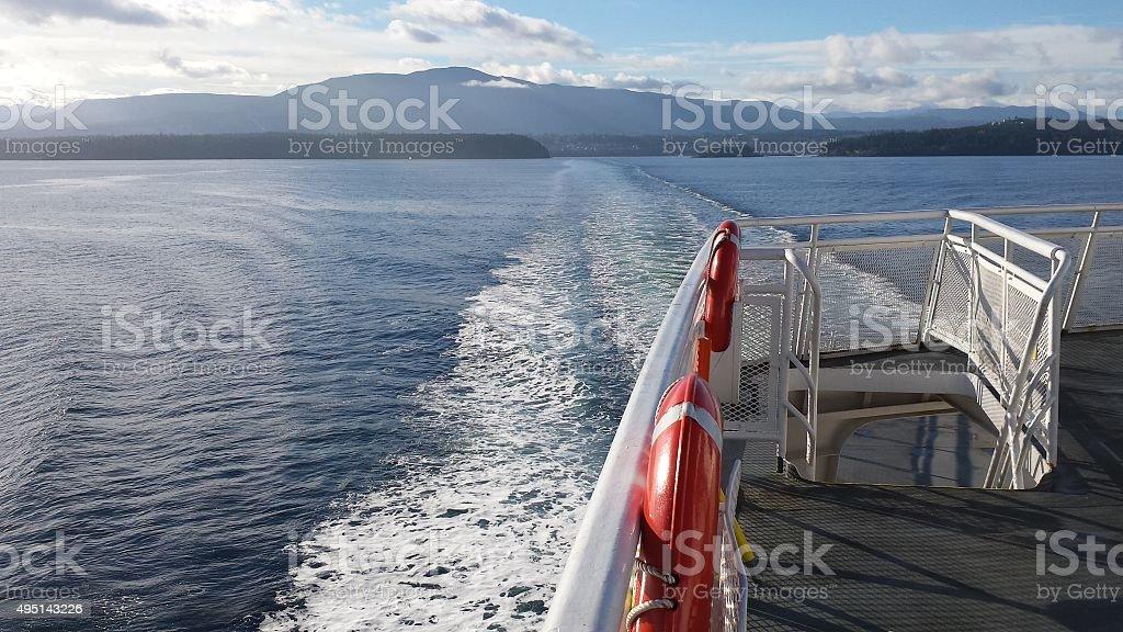 Ship Wake stock photo