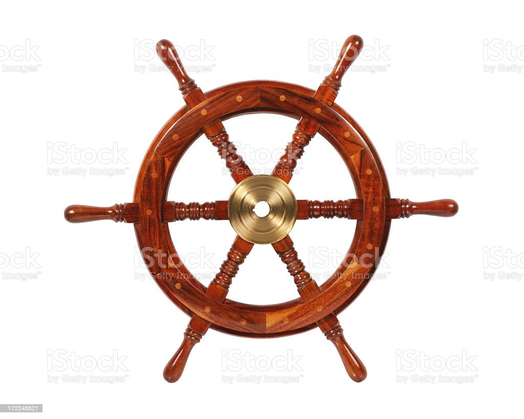 Ship Wheel (XXL) stock photo