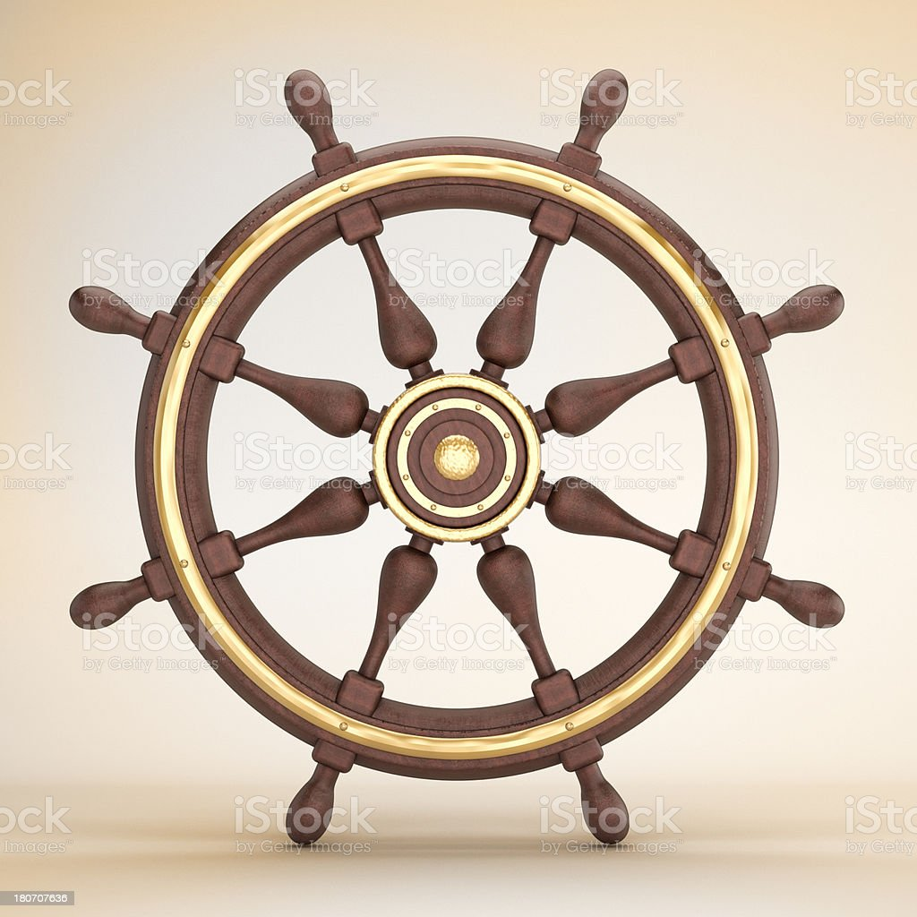 Ship wheel royalty-free stock photo