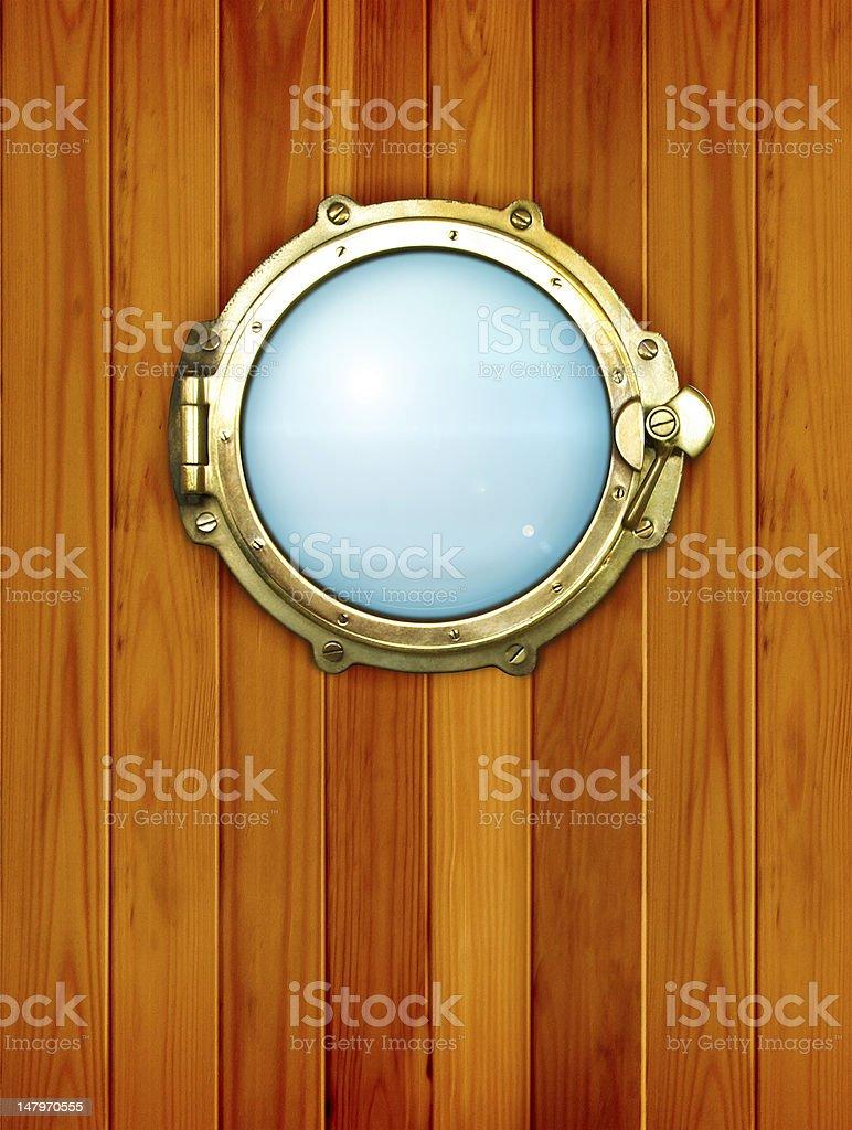 Ship window - porthole stock photo