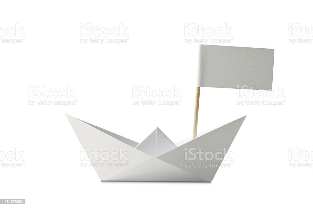 Ship with Flag stock photo
