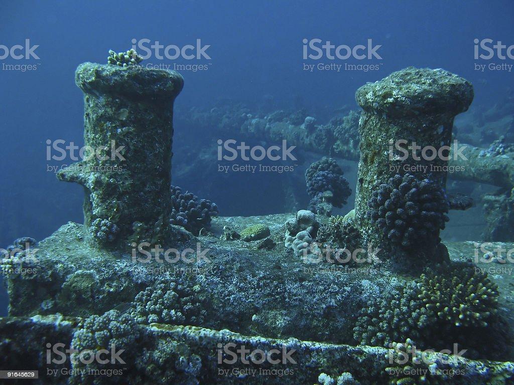 Ship Wreck Detail royalty-free stock photo