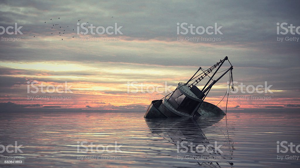 Ship Wreckage stock photo