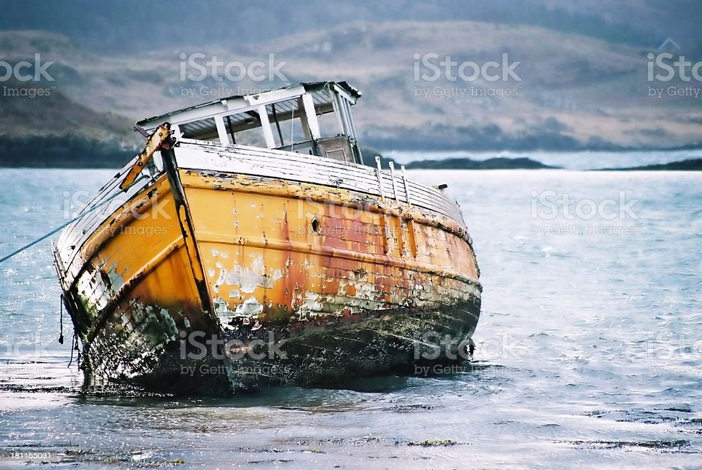 Ship Wrecked Boat royalty-free stock photo