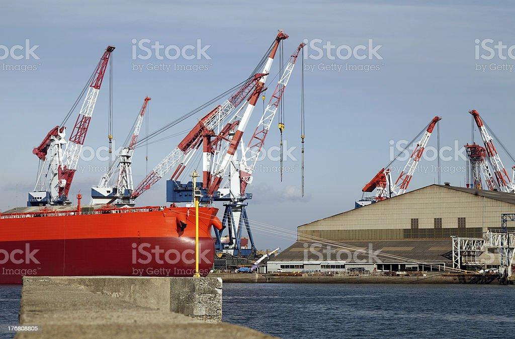 Ship yard royalty-free stock photo