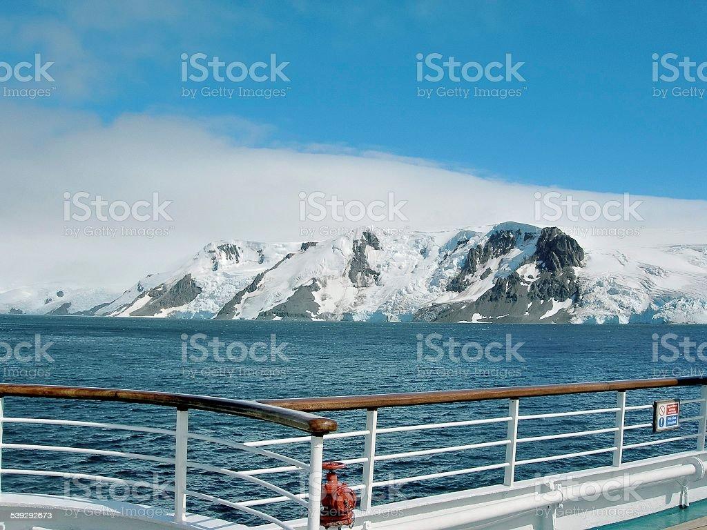 Shipboard View Admiralty Bay Glacier stock photo