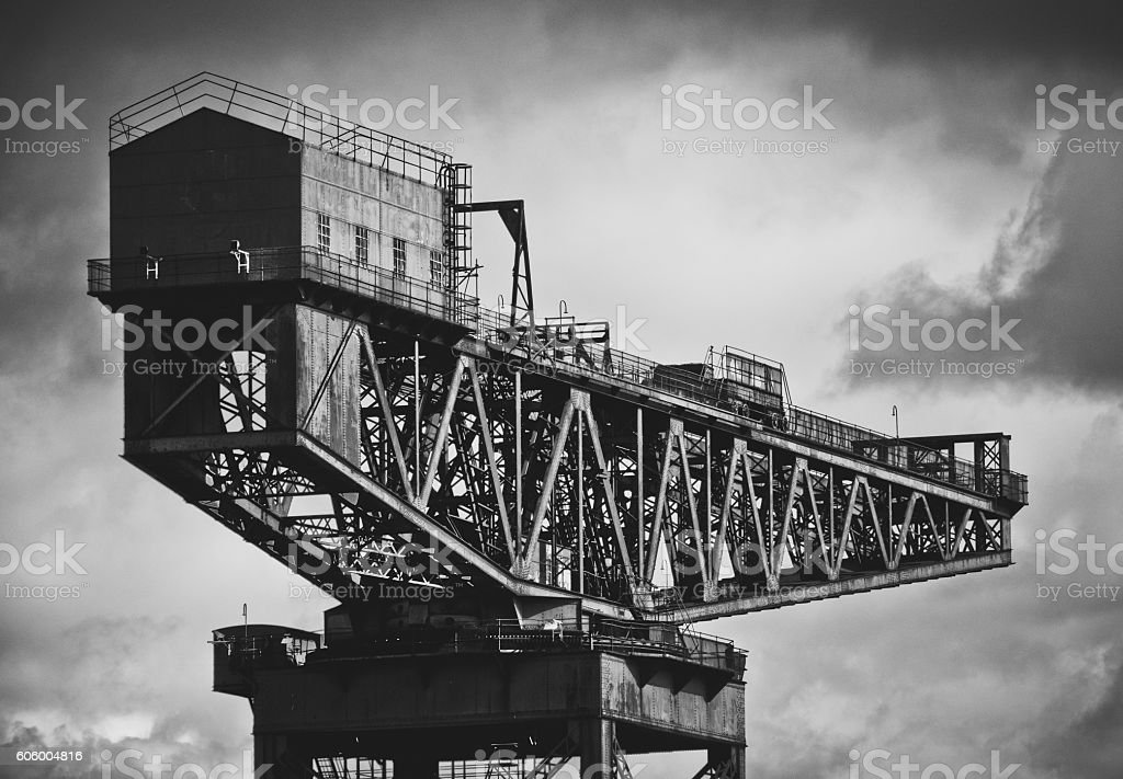 Shipbuilding Crane In Glasgow stock photo