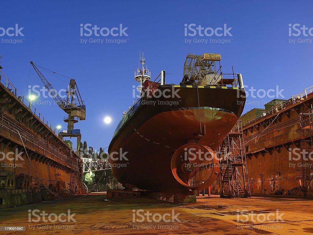 Shipbuilding royalty-free stock photo