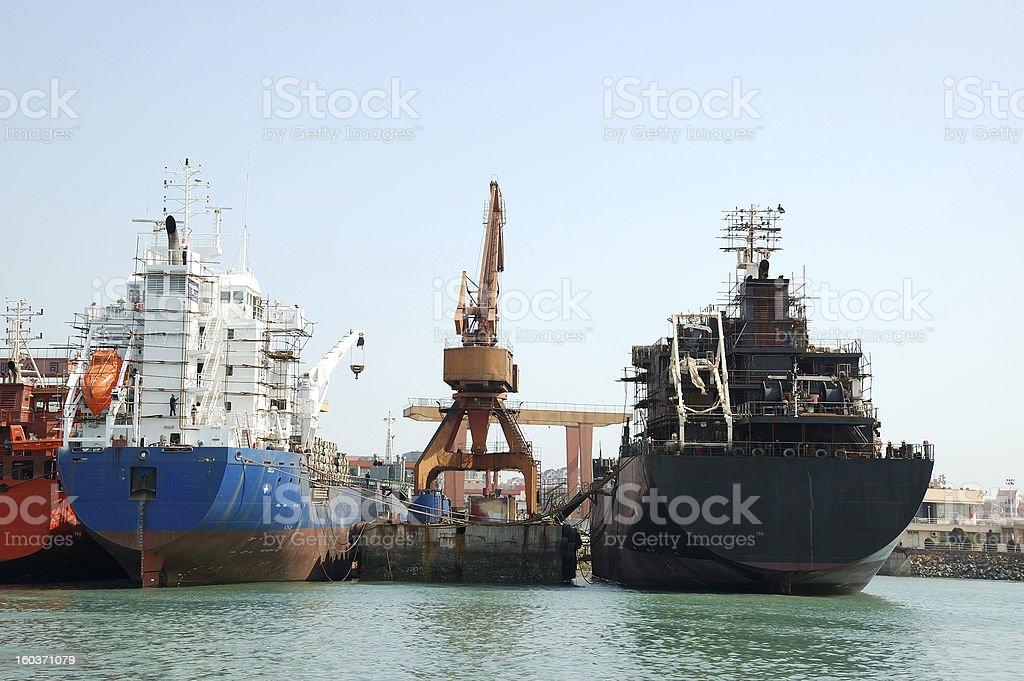 Shipbuilding plant royalty-free stock photo