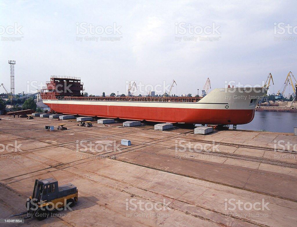 shipbuilding, ship repair stock photo