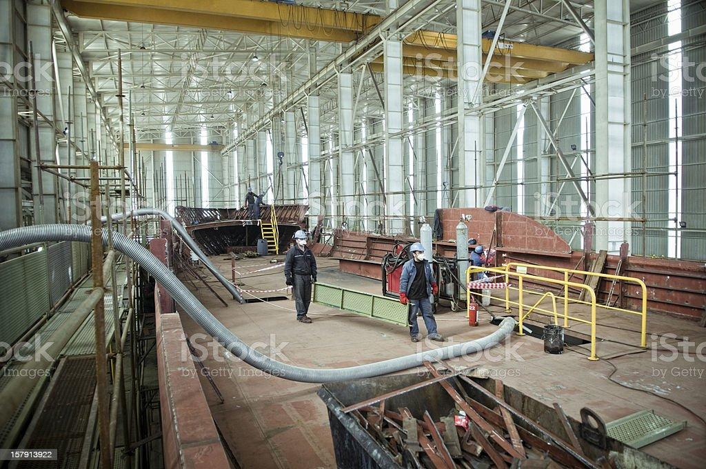 shipbuilding, ship repair royalty-free stock photo