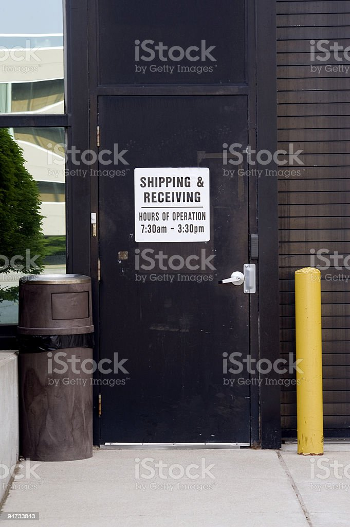 Shipping and receiving dock royalty-free stock photo