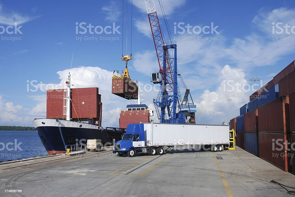 Shipping and Trucking Transportation Industry royalty-free stock photo