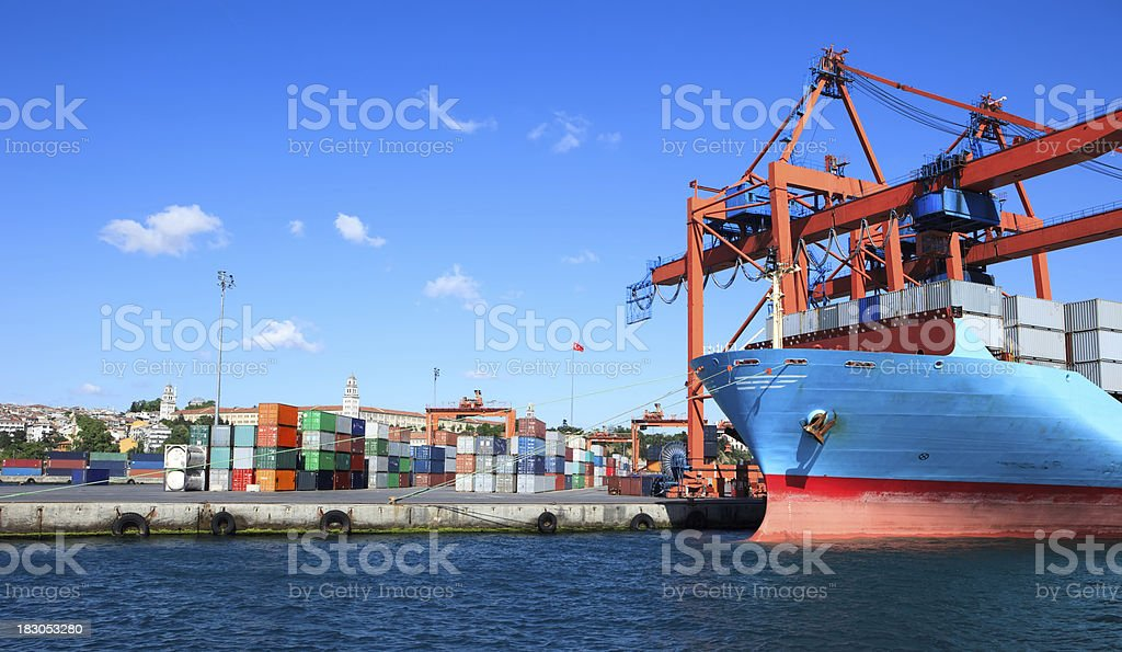Shipping and Trucking Transportation Industry stock photo