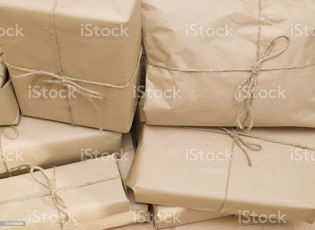 shipping boxes royalty-free stock photo