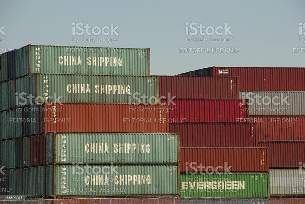 Shipping Container Boxes China royalty-free stock photo